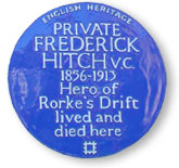 Hitch Blue Plaque