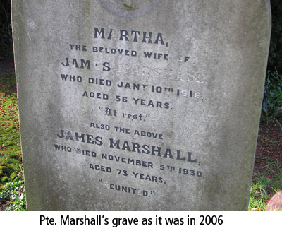 964 Pte James Marshall service
