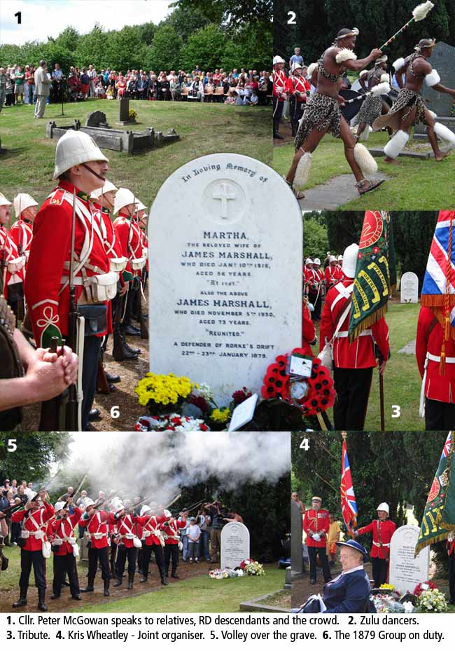 Service of rededication of Rorke's Drift defender